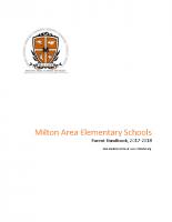 Elementary School Parent Handbook 2017-2018