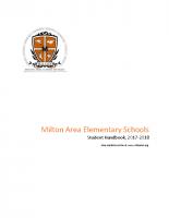 Elementary School Student Handbook 2017-2018