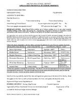 Facilities Use Form – Application for Rental of School District Property
