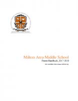 Middle School Parent Handbook 2017-2018