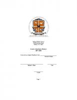 Middle School Student Handbook 2017-2018