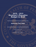 18-19 Governor's Executive – Budget In Brief