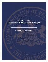 18-19 Governor's Executive Budget