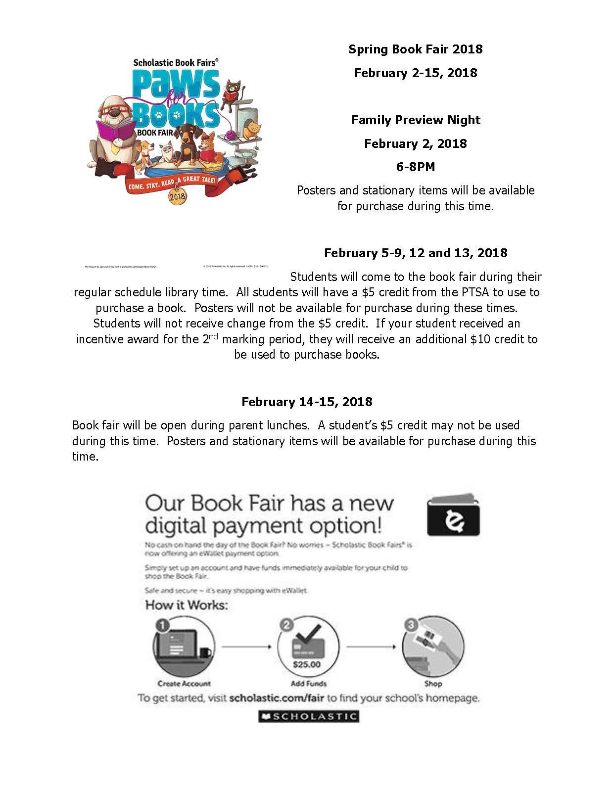 Spring Book Fair 2018