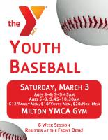 YMCA Milton Baseball 2018