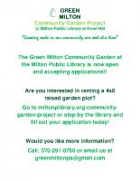 GREEN MILTON info flyer for school