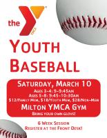 Milton YMCA Baseball