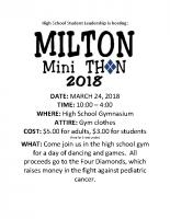 Mini THON 2018 Flyer 2