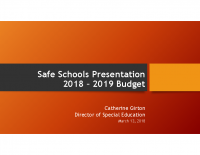 2018 – 2019 Safe Schools Presentation _ MASD