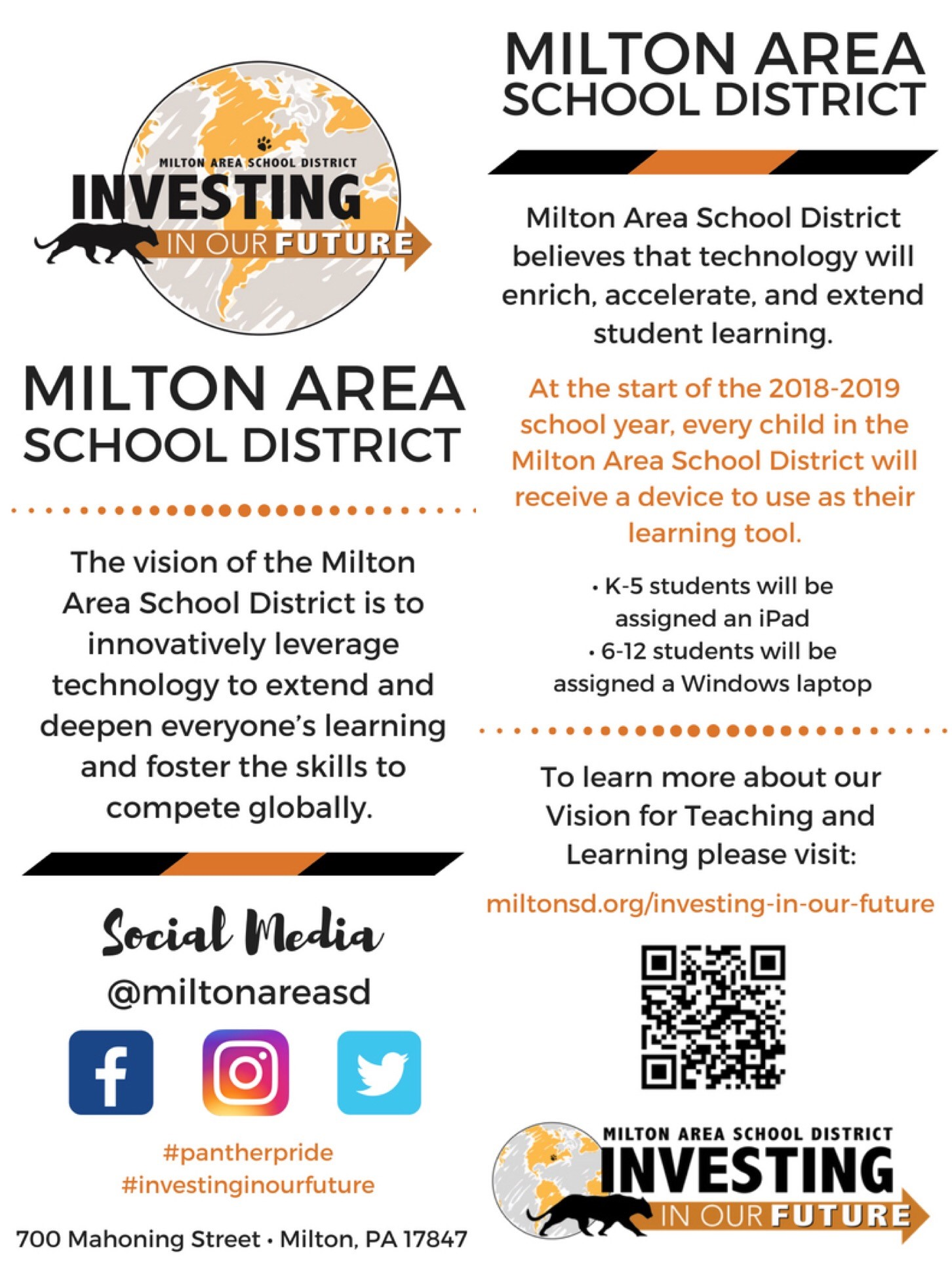Investing in Our Future Community Flyer