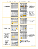 2018-2019 calendar revised for late start