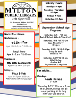 Milton Library Newsletter Fall