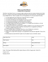 Student Device Agreement