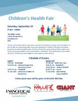 Children's Health Fair Flyer