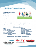 Children's Health Fair Flyer