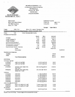 Mountain Research Invoices – August 2018