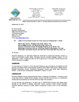 Mountain Research Mold Remediation Summary Letter