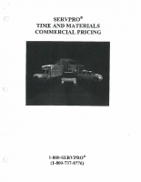 SERVPRO Time and Materials Pricing