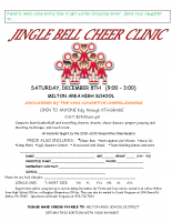 Jingle Bell Cheer Clinic
